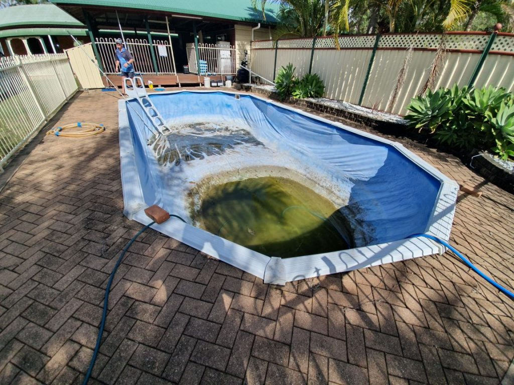 Vinyl liner pool repair Qld