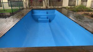 Repair vinyl liner swimming pool